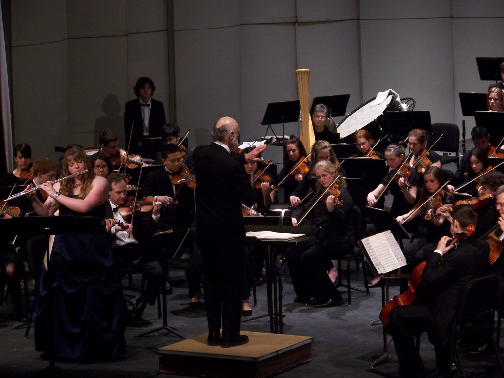 Ms. Fryzel and the Geneseo Symphony Orchestra